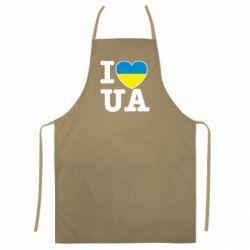 Цветной фартук I love UA