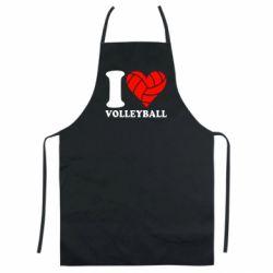 Кольоровий фартух I love volleyball