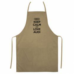 Цветной фартук Keep Calm and Love Audi