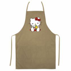 Цветной фартук Kitty с букетиком