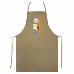 Цветной фартук Клевая бабушка со скалкой