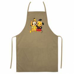 Цветной фартук Mickey and Pikachu