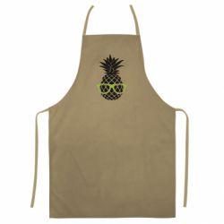 Цветной фартук Pineapple with glasses