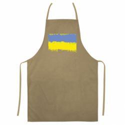 Кольоровий фартух Потертий прапор України