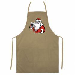 Цветной фартук Santa Claus with beer