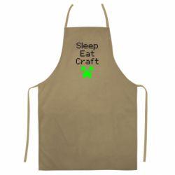 Кольоровий фартух Sleep,eat, craft