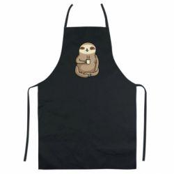 Кольоровий фартух Sloth loves coffee