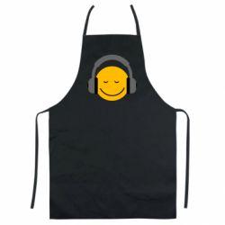 Цветной фартук Smile in the headphones