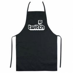 Кольоровий фартух Twitch logotip