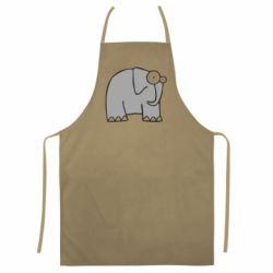 Цветной фартук удивленный слон