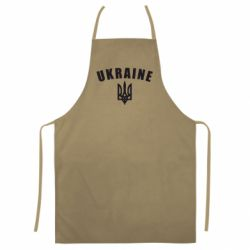Кольоровий фартух Ukraine + герб