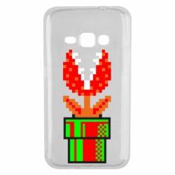 Чохол для Samsung J1 2016 Квітка-людожер Супер Маріо