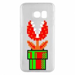Чохол для Samsung S6 EDGE Квітка-людожер Супер Маріо