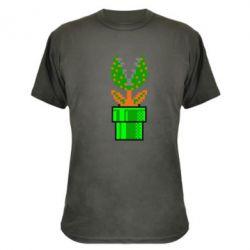 Камуфляжная футболка Цветок-людоед Супер Марио - FatLine