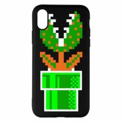 Чохол для iPhone X/Xs Квітка-людожер Супер Маріо