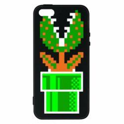 Чохол для iphone 5/5S/SE Квітка-людожер Супер Маріо