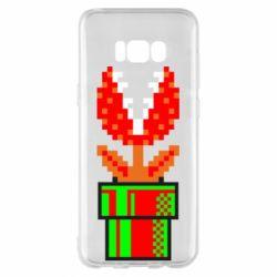 Чохол для Samsung S8+ Квітка-людожер Супер Маріо