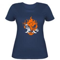 Жіноча футболка Cyberpunk 2077 fire