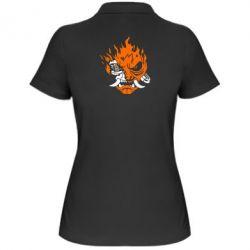 Жіноча футболка поло Cyberpunk 2077 fire