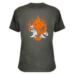 Камуфляжна футболка Cyberpunk 2077 fire
