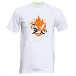 Купить Мужская спортивная футболка Cyberpunk 2077 fire, FatLine