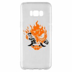 Чохол для Samsung S8+ Cyberpunk 2077 fire