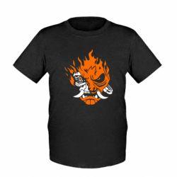 Дитяча футболка Cyberpunk 2077 fire