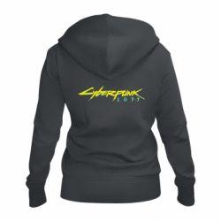 Жіноча толстовка на блискавці Cyberpunk 2077 logo
