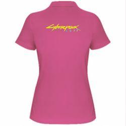 Жіноча футболка поло Cyberpunk 2077 logo