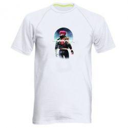Чоловіча спортивна футболка Cyberpunk girl