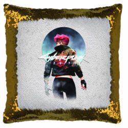 Подушка-хамелеон Cyberpunk girl
