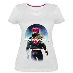Жіноча стрейчева футболка Cyberpunk girl