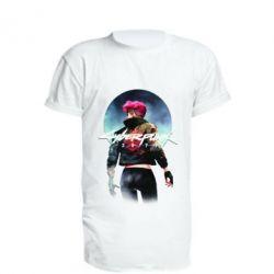 Подовжена футболка Cyberpunk girl