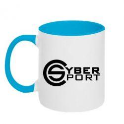 Кружка двухцветная CyberSport1