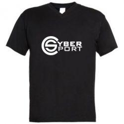 Мужская футболка  с V-образным вырезом CyberSport1