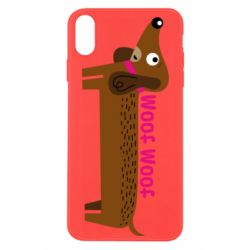 Чохол для iPhone Xs Max Dachshund and funny text