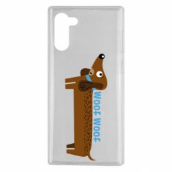 Чохол для Samsung Note 10 Dachshund and funny text