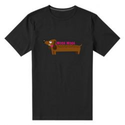 Чоловіча стрейчева футболка Dachshund and funny text