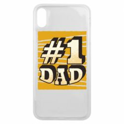 Чехол для iPhone Xs Max Dad number one