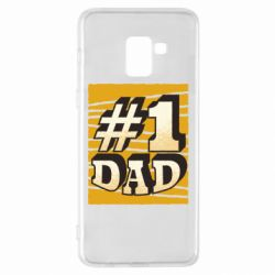 Чехол для Samsung A8+ 2018 Dad number one