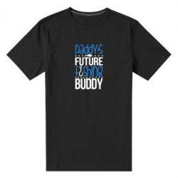 Мужская стрейчевая футболка Daddy's future fishing buddy