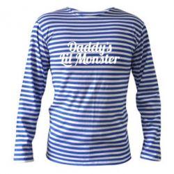 Тельняшка с длинным рукавом Daddy's Lil Monster - FatLine