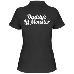 Женская футболка поло Daddy's Lil Monster - FatLine