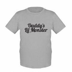 Детская футболка Daddy's Lil Monster - FatLine