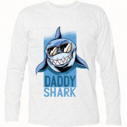 Футболка з довгим рукавом Daddy shark