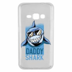 Чехол для Samsung J1 2016 Daddy shark