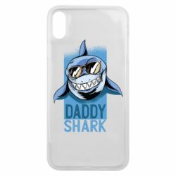 Чехол для iPhone Xs Max Daddy shark