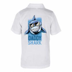 Дитяча футболка поло Daddy shark