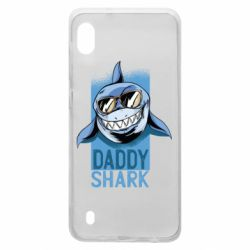 Чехол для Samsung A10 Daddy shark