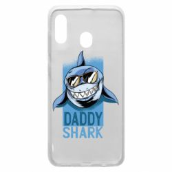 Чехол для Samsung A30 Daddy shark